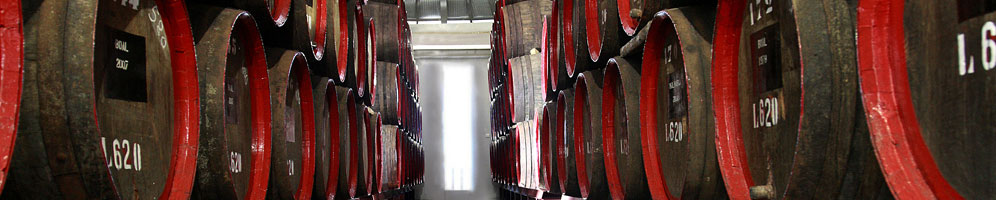 Wines aging Canteiro style at Barbeito's wine lodge