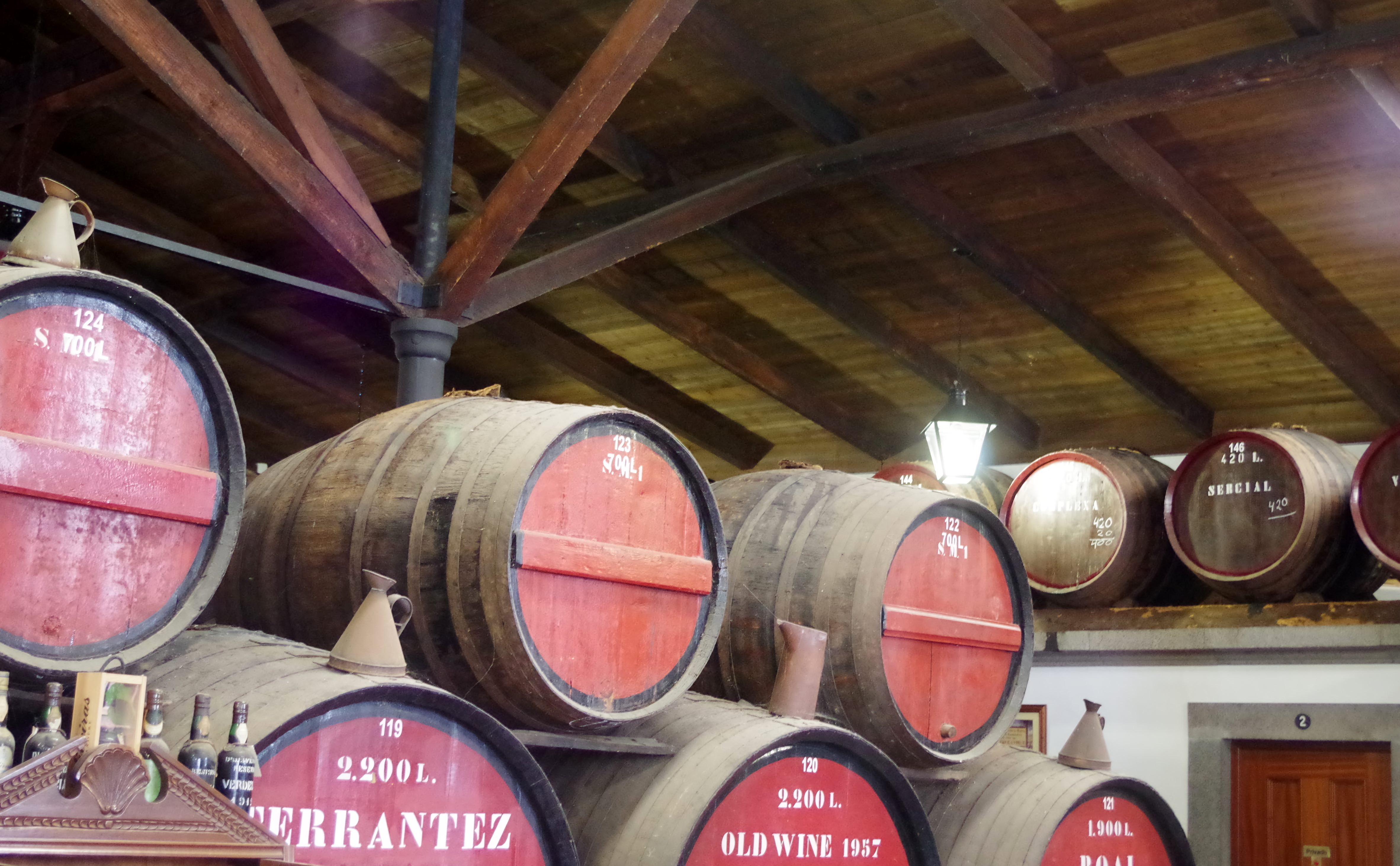Barrels including Terrantez at D'Oliveiras