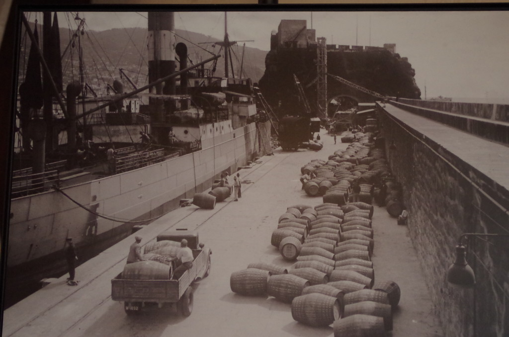 Barrels of Madeira being loaded