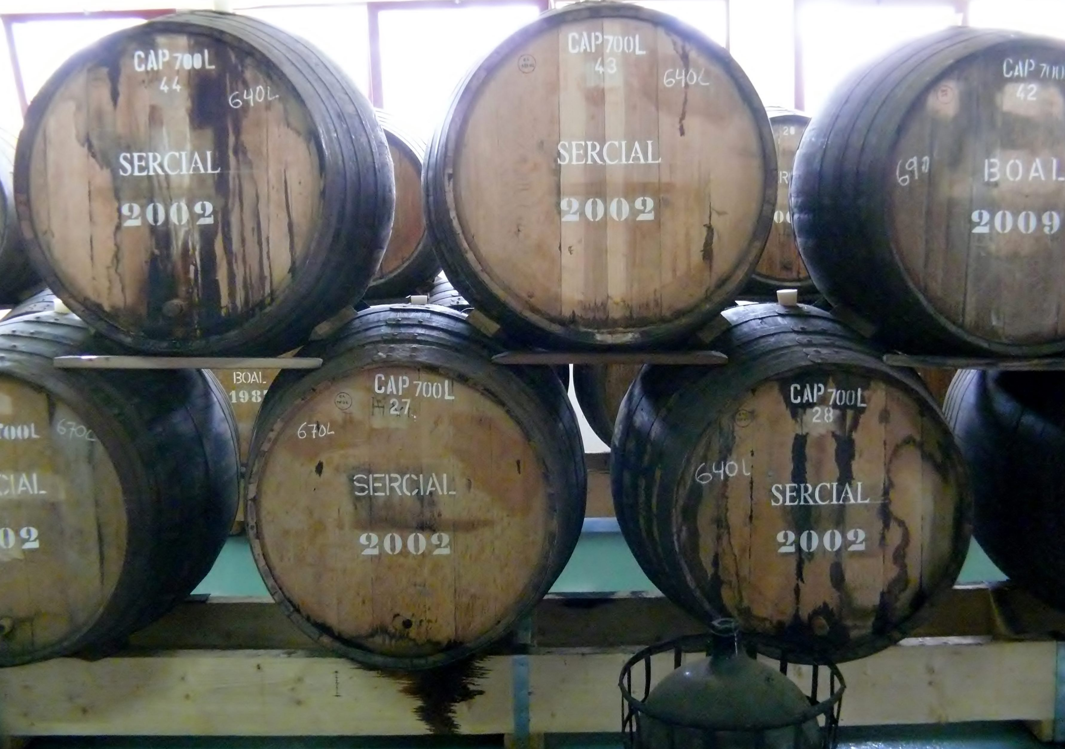 Sercial wines aging