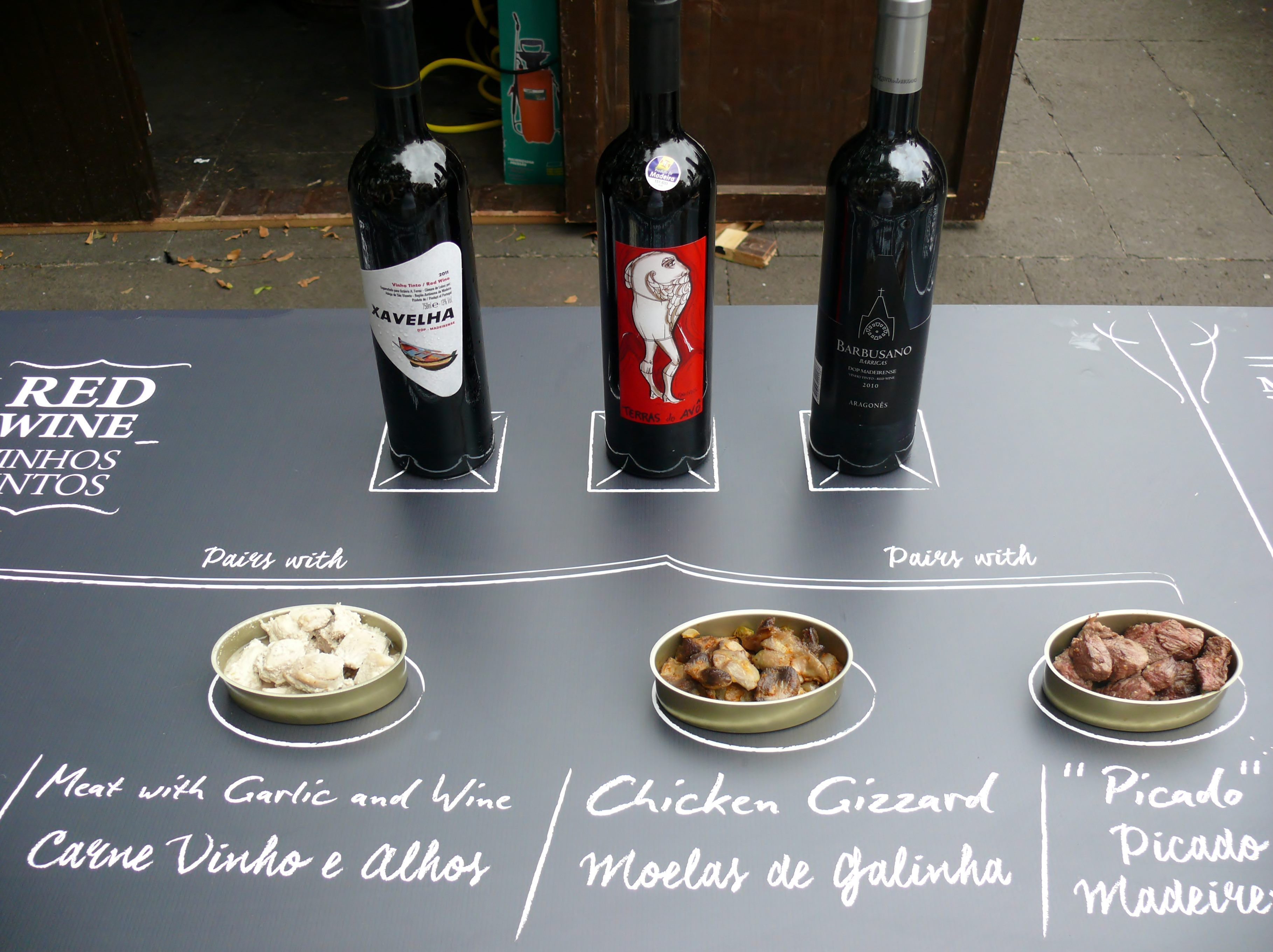 Madeira red table wines and food