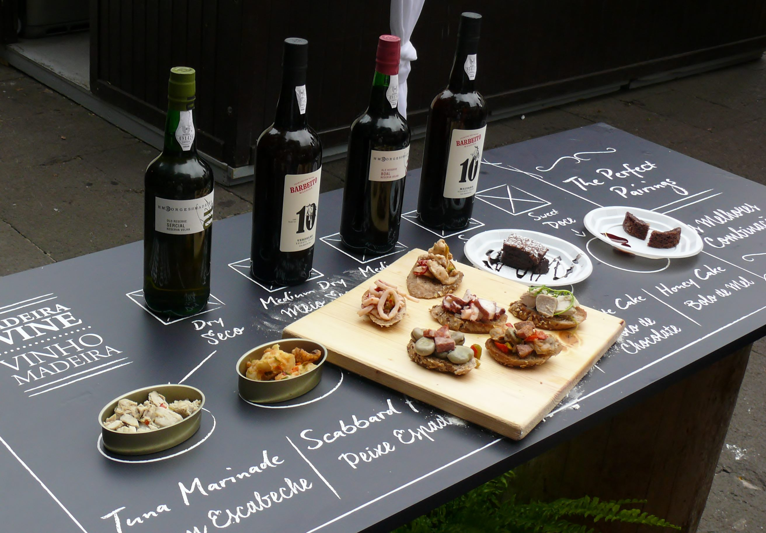 Madeira wine and food pairing