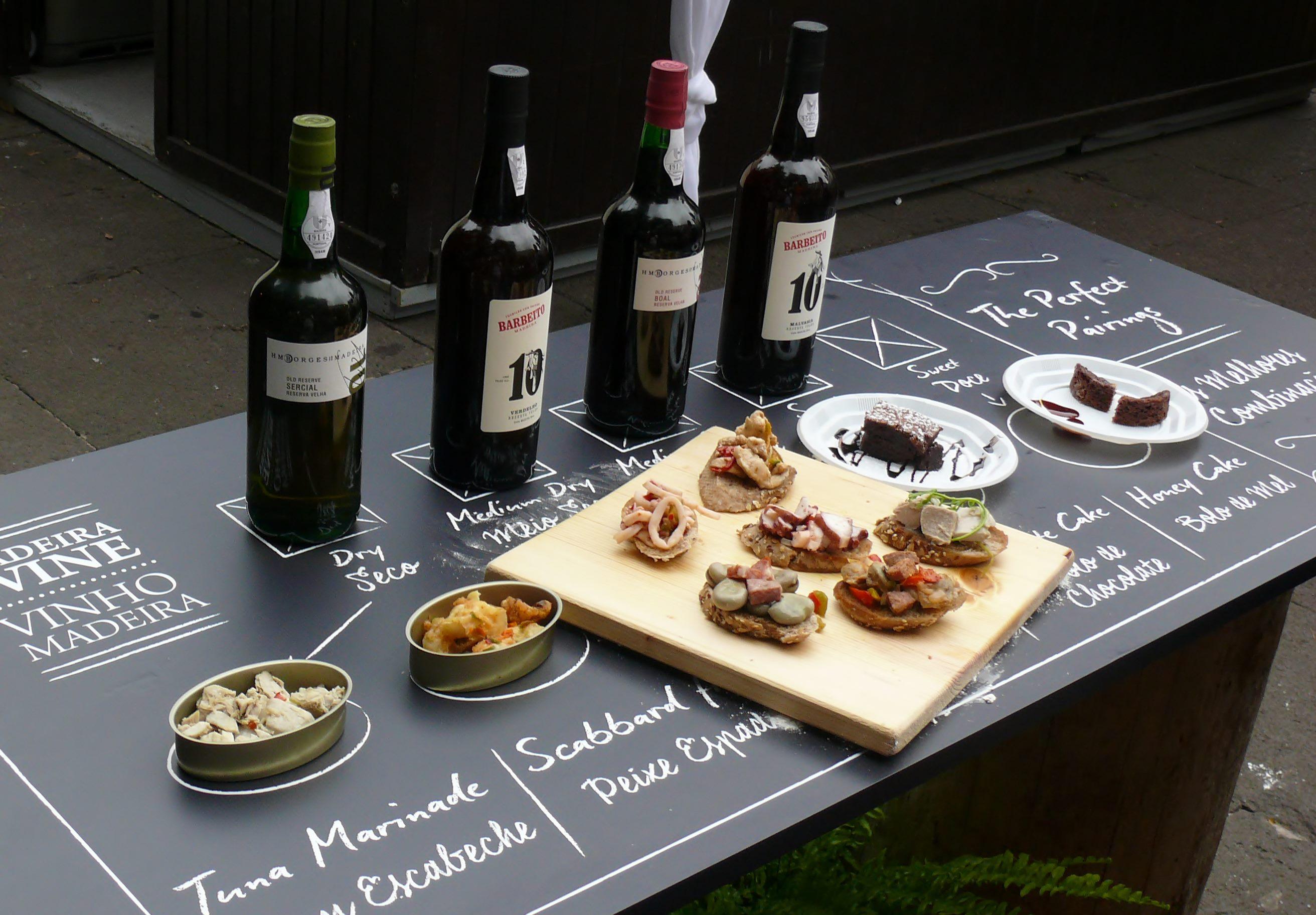 Madeira wine and food pairing
