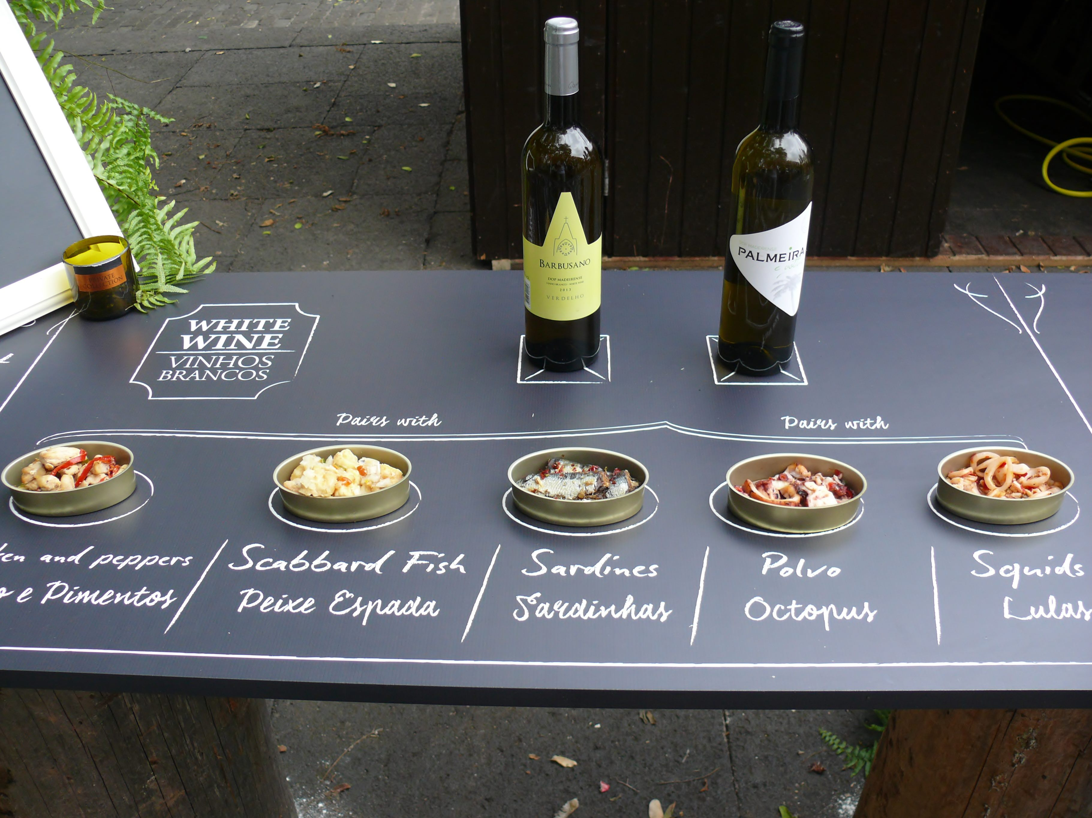 Pairing madeira white table wines and food