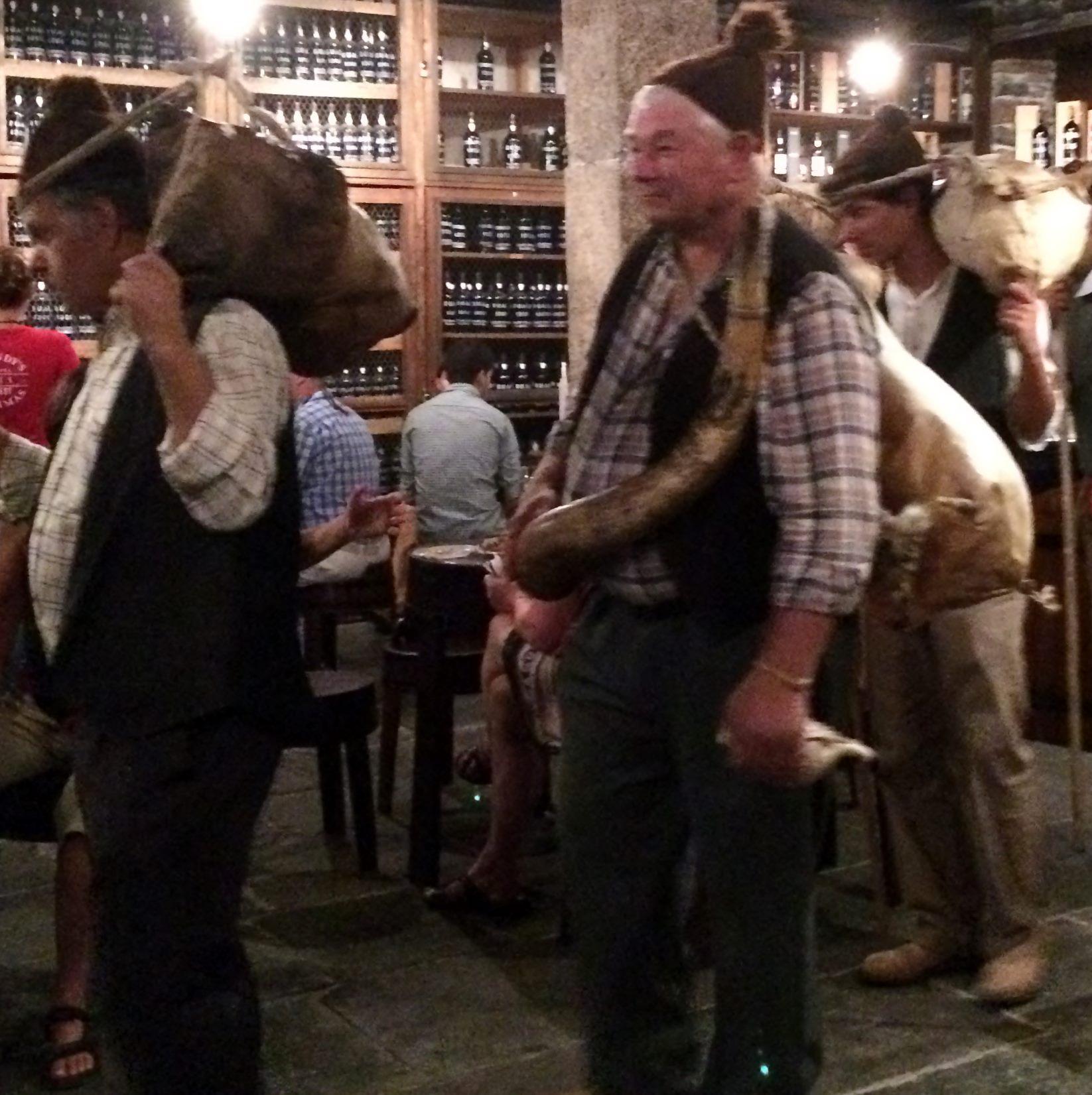 Wine skins arriving at Blandy's