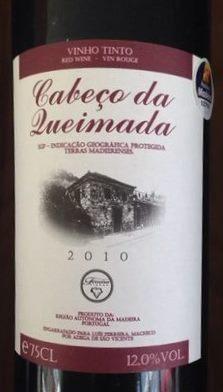 Cabeco da lueimada Madeira table wine 2010