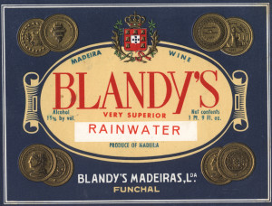 Blandy's rainwater (old label)