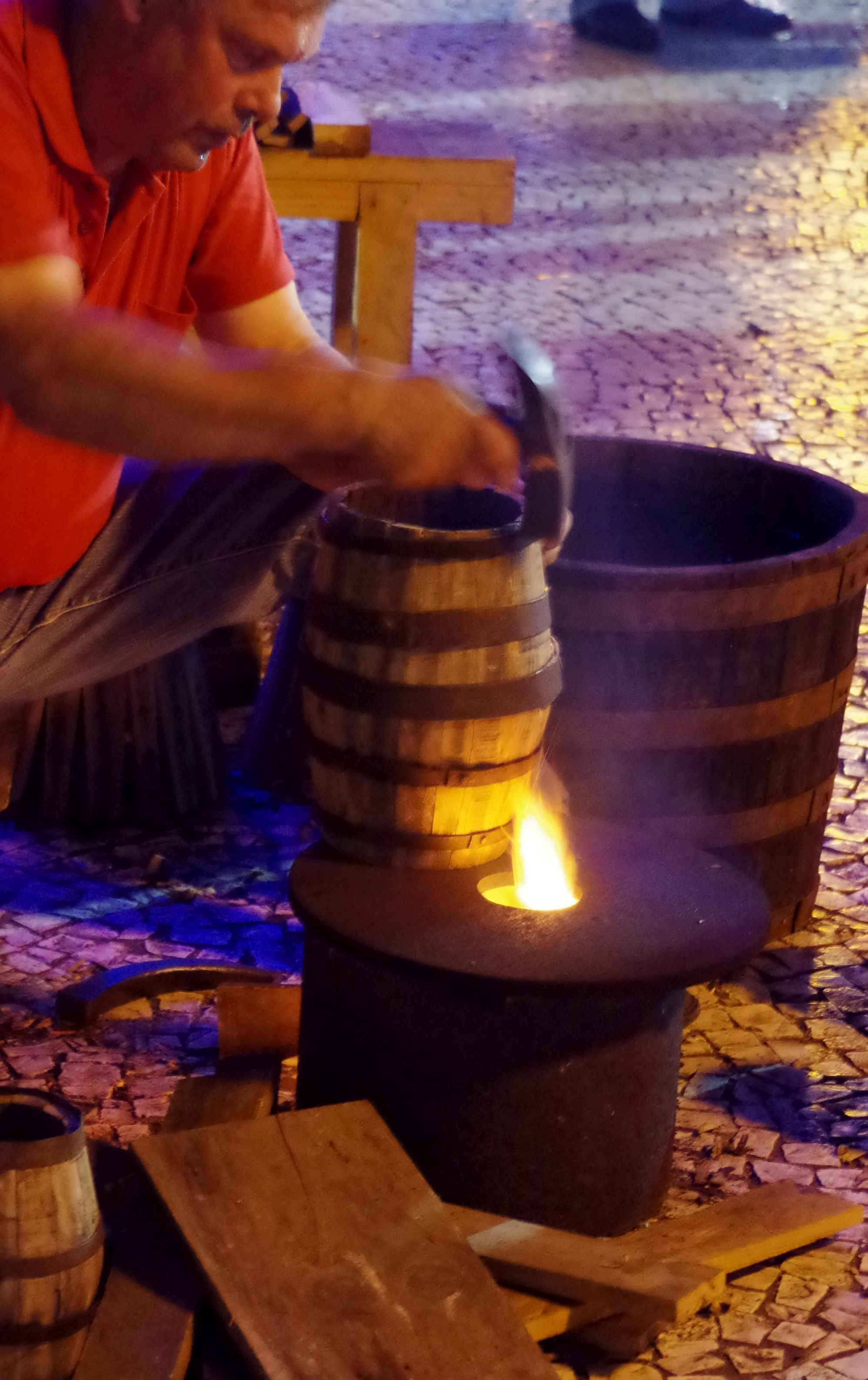 Barrel making at the Madeira wine festival