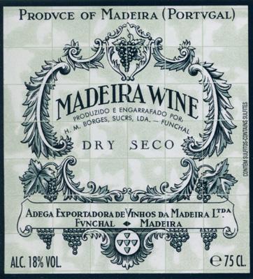 Borges seco Madeira label