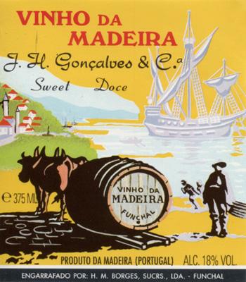 Borges famous oxen label