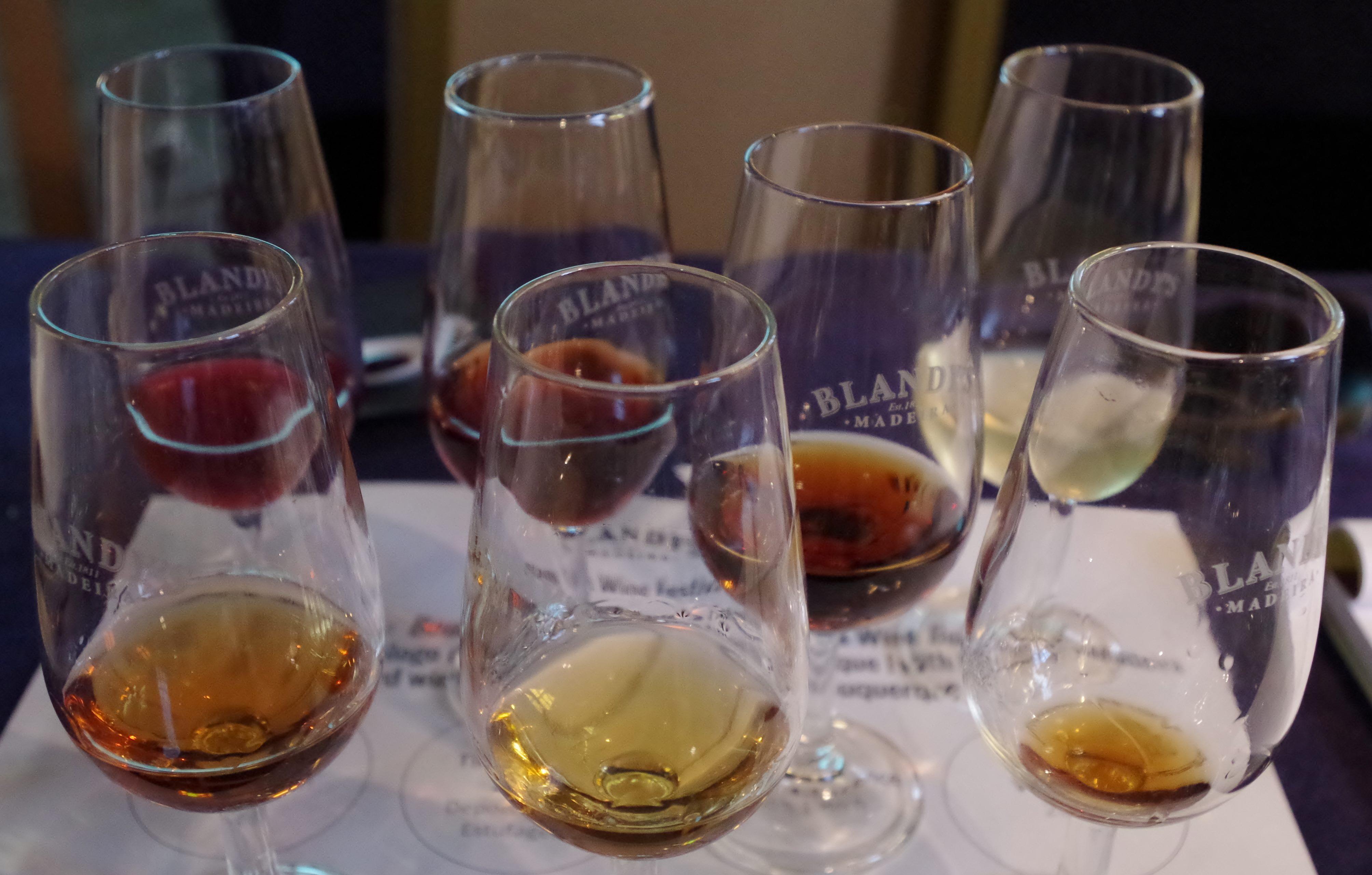 tasting Madeira wine