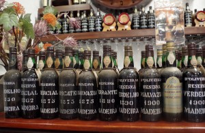 Madeira wines on display
