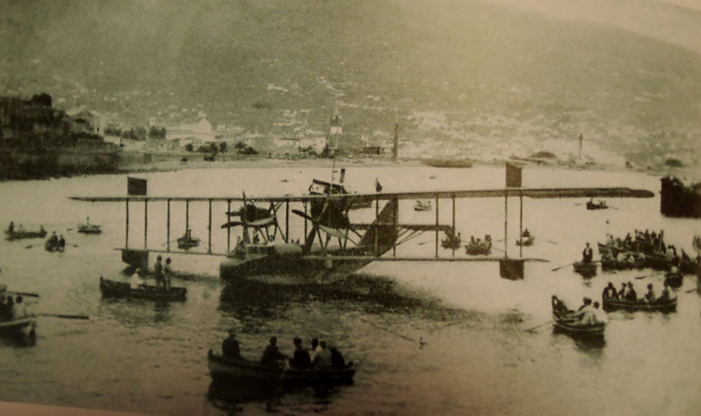 Flying boat in Funchal harbour Madeira