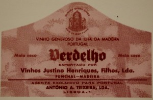 Old Verdelho label