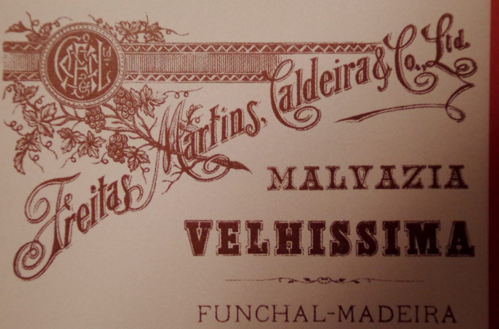 Madeira label from long ago