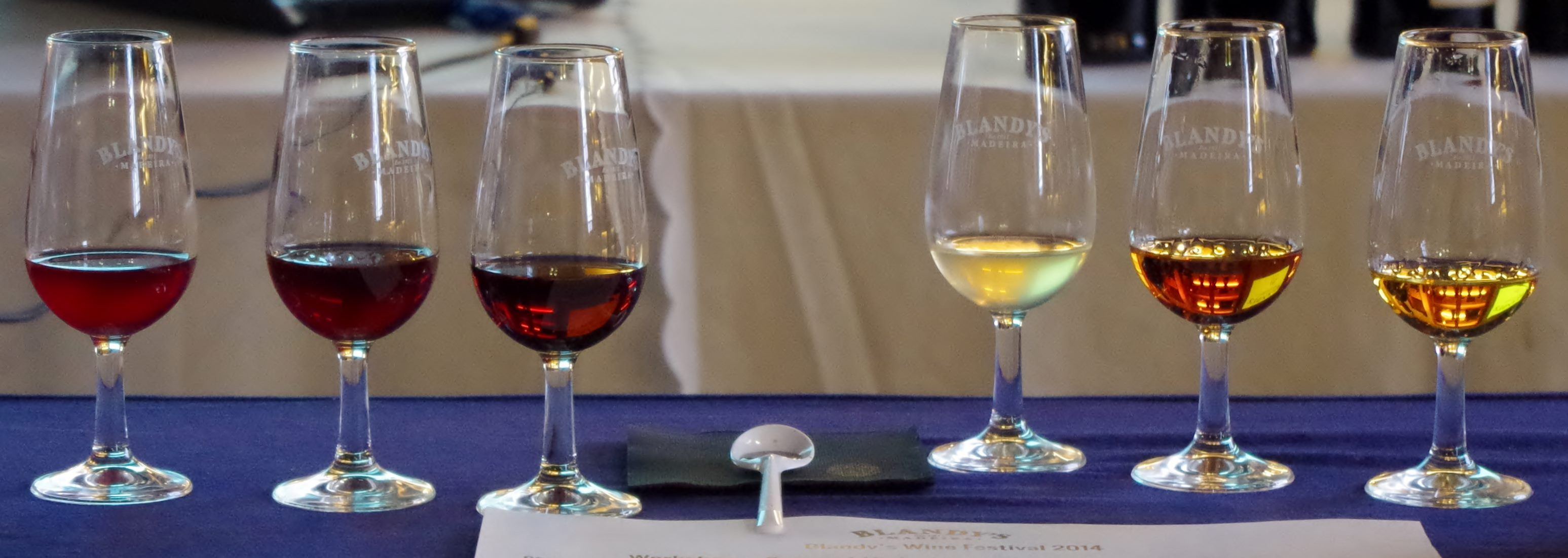 Colours of Madeira wines