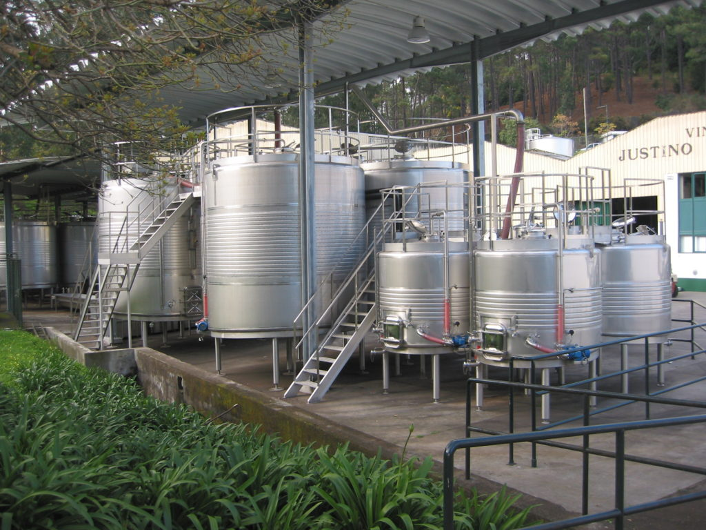 Madeira wine fermentation tanks (Broadent)