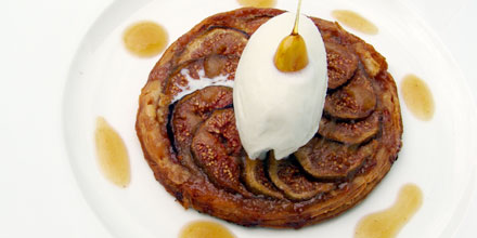 Fresh fig tart