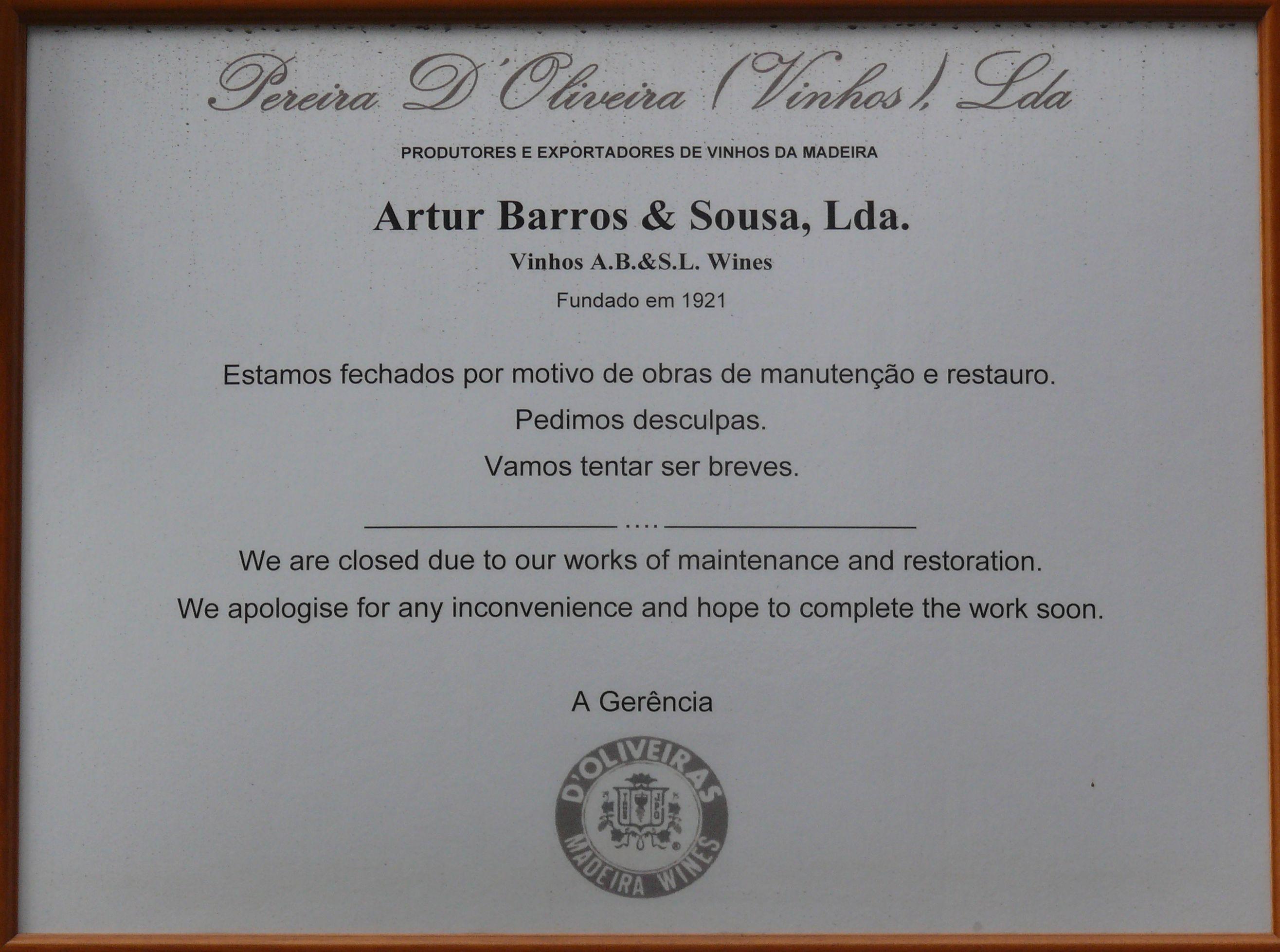 Barros and Sousa notice