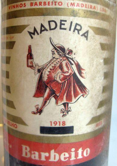 1918 Madeira Barbeito Verdelho label