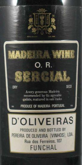 1924 Madeira Sercial D'Oliveiras 2