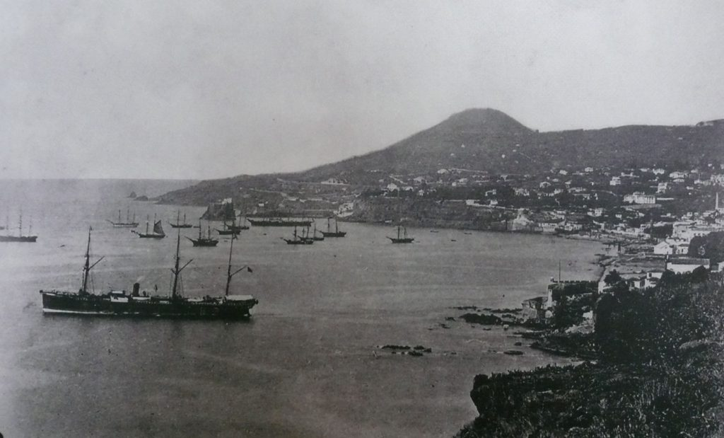 Sailing ships in Funchal many years ago