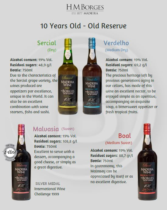 Borges 10 years Old Reserve Madeira wine