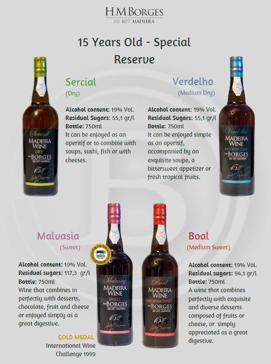 Borges 15 years old Special Reserve Madeira wine