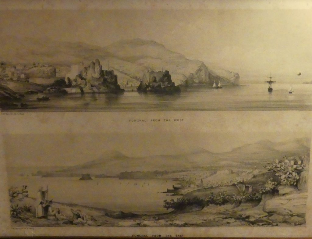 Old sketches of Funchal found in the Quinta da Penha