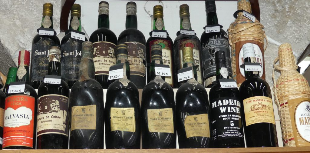 Interesting old bottles of Madeira