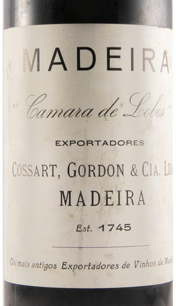 Madeira label Cossart and Gordon Camara de Lobos