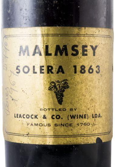 1863 Madeira Wine Malmesey Solera Leacock