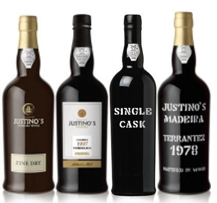 Justino's selection of Madeira wines, from young to old