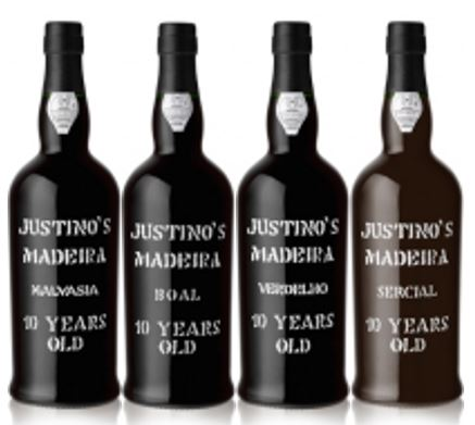 Justino's 10 years old Madeira wine range, which are excellent wines